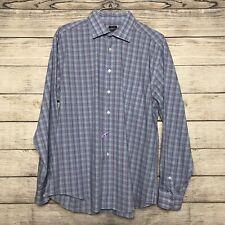 Pronto Uomo XLNon Iron Blue Purple and White Check Dress Shirt