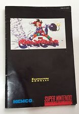 Super Nintendo SNES -- KID KLOWN in Crazy Chase -- Instruction Manual Booklet