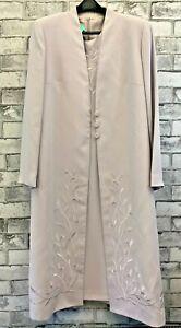Condici Ladies Mother Of The Bride Long Jacket & Short Sleeve Dress Set Size 18
