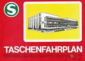 DDR S-Bahn Berlin Taschenfahrplan 1976