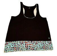 Hurley Women's  Tank Top size JR M black, Green polyester