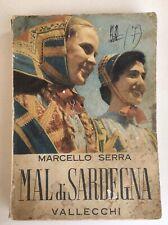 Libro Mal Di Sardegna Marcello Serra Vallecchi Prima Edizione
