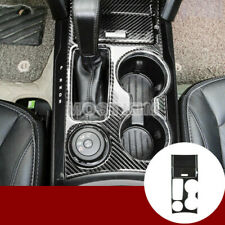Carbon Fiber Gear Box & Water Cup Holder Cover 6pcs For Ford Explorer 2016-2018