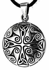 Silver Band Amulet No 25 Celtic triskelen Celtic Knots Pendant 925
