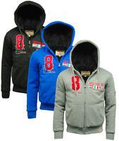 Mens Racing 'Serov' Sherpa Hoodie Zip Sweatshirt Jacket