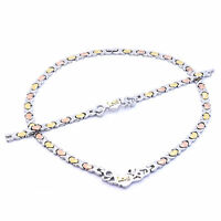 "XOXO I LOVE YOU Hugs & Kisses Necklace Womens 3 Tone Bracelet 20"" Set"