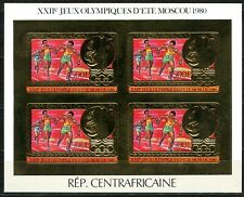 Centre Afrique 1981 Olympic games JO Moscou Gold Foil Or MICHEL 686 B 120 euros
