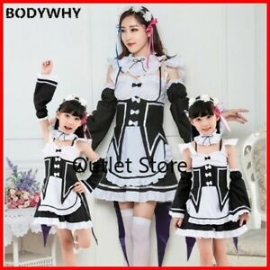 Anime Parent-child Costume Maid Costume Cos Clothing Cosplay Costume  Bow Dress