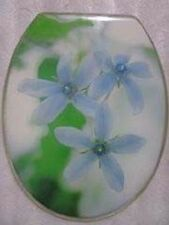 Loo with a View - Orchid Flower, Poly Resin Decor Toilet Seat, EU64