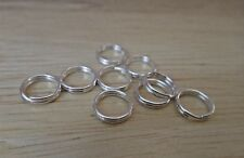 10 Sterling Silver 7 mm Split Rings Attach Charms Bracelet