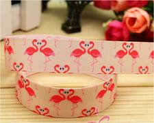 1 yard (90cm) Flamingo 22mm Ribbon, Gift Decoration, DIY Bow / Hair Clip