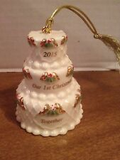 "Lenox 2015 ""Our First Christmas Together"" Cake Christmas Ornament - Mint"