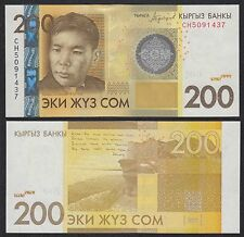 Kirguistán - Kyrgyzstan  200 Som  2010  Pick 27b  SC = UNC