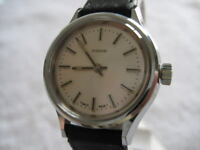 NOS NEW SWISS ST STEEL WATERPROOF NIDOR WATCH 1960'S