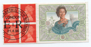 Elizabeth 11 booklet Pane 1996 70th Birthday with a superb special cancel