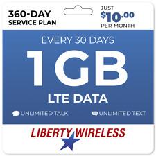 $10/Mo Liberty Wireless Prepaid Wireless Phone Plan