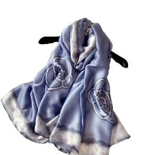 100% Pure Mulberry Silk Women Large Scarf Islamic Hijab Foullard Shawl 69