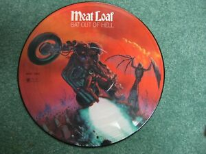 Meat Loaf BAT OUT OF HELL picture disc lp vinyl music records