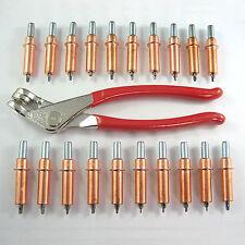 "1/8"" CLECO TOOL KIT, INCL PLIERS & 20 KWIK-LOK CLECOS - Hotrod Sheet Metal Pins"