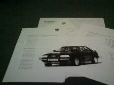 1988 AUDI 90 QUATTRO SPORT LINE EQUIPMENT GERMAN BROCHURE