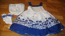 TCP THE CHILDREN'S PLACE 24M 24 MONTHS BLUE FLORAL DRESS LOT