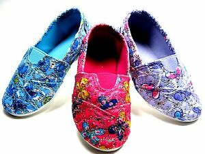 Adorable SlipOn Flats For Baby Toddler Girls Pink - Blue - Purple  Sz 3 - 8