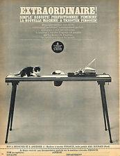 PUBLICITE ADVERTISING   1965    PINGOUIN  machine à tricoter
