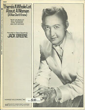 Jack Greene There's A Whole Lot About A Woman 1971  Photo Sheet Music
