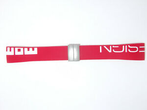 New ORIGINAL MOMO DESIGN MD-187, MD-2187  rubber watch band strap Red / White