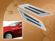 1 PAIR CHROME RAZOR LINE FENDER VENT ACCENTS FOR 2007-2009 IMPORTS CAR SUV VAN