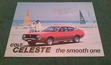 1978 COLT CELESTE UK BROCHURE - 1600 ST GSR 2000 GT - EDWARD TYLER CROYDON STAMP