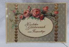 AK geprägt Glückwunsch Namenstag Blumen  1913 gelaufen