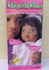 """Galoob Whispering Wishes Black Doll 31402 new 1993 vintage 15"""" talking 1990's"""