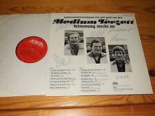 MEDIUM TERZETT - STIMMUNG STECKT AN / GERMANY-LP 1975 MINT-  & AUTOGRAMM