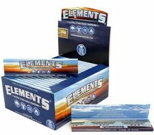 3 PACKS ELEMENTS KING SIZE SLIM ROLLING PAPERS NATURAL 32 SHEETS / PACK 96 TOTAL