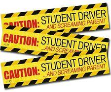 Zento Deals 3X Auto Caution Student New Driver Screaming Parent Funny Car Magnet