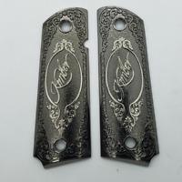Custom Kimber 1911 Grips - Full Size - Government - Commander - black nickel