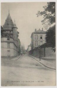 France postcard - Chartres - La Rue du Lycee (A18)