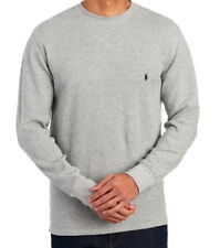 Polo Ralph Lauren Mens Long Sleeve Thermal Waffle Knit T Shirt Gray Large NWT