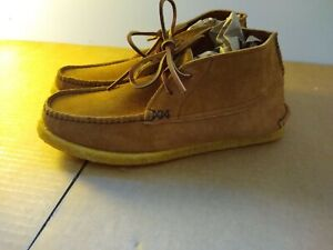 YUKETEN Sports Chukka FO G Brown Men's 10-1/2 E Suede Genuine NEW! boots Golden