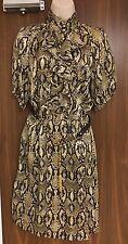 Luisa Spagnoli Snake Print Silk Dress Sizes UK 16/IT 48  RRP £245
