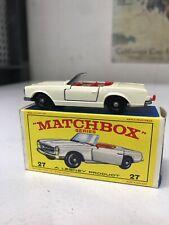 MATCHBOX LESNEY #27 MERCEDES BENZ 230SL CONVERTIBLE BOXED