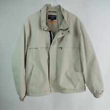 Dockers L Coat Stain Defender Beige Fleece Lined Golf Jacket