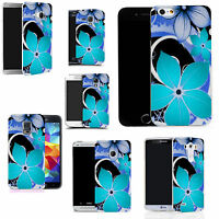 Motif case cover for All popular Mobile Phones - blue hybrid flower