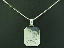 835 plata cadena & 925 Sterling plata colgante estrella caracteres León/42,3cm