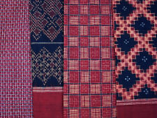 Telia rumal, set of 4 pieces of extremely rare ikat, Andhra Pradesh, India
