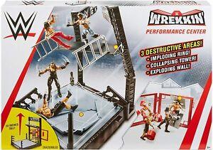 WWE Total Destruction Wrekkin Playset Mattel with Ring Playset for Figures