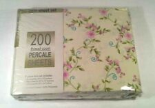 Percale No Iron Sheet Twin Flat Fitted with Pillow Case Set, 3 Pieces