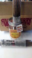 "25 Genuine Wild Berry 11"" Wizard incense sticks sealed in a plastic wrapper."