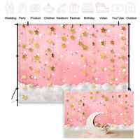 Newborn Baby Floral Photography Pink Blue Backdrops Studio Photo Background Prop